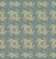 seamless retro floral pattern with muted colors vector image vector image