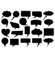 set different speech bubbles vector image vector image