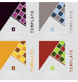 set of minimal geometric covers design geometric vector image vector image