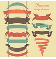 Set of retro ribbons and arrows banner vector image vector image