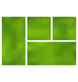set template horizontal vertical square green vector image vector image