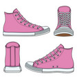 set with pink sneakers vector image vector image