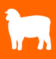 sheep silhouette white icon vector image