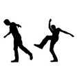 silhouettes of people falling vector image vector image