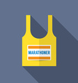 Singlet Of Marathon Runner vector image