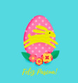 spanish happy easter greeting card egg vector image vector image