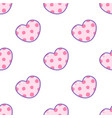 sticker style cartoon heart seamless vector image vector image