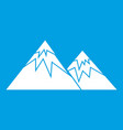 swiss alps icon white vector image vector image