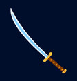 sword icon label of fantasy and medieval weapon vector image vector image
