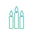 three burning candles christmas decoration vector image vector image