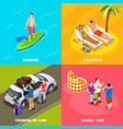 vacation people isometric design concept vector image vector image
