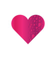 valentines day heart cartoon vector image