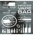 Vapor bar and vape shop logo vector image vector image