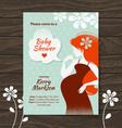 Vintage baby shower invitation vector image vector image