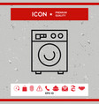 washing machine linear icon vector image