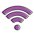wifi signal isolated icon vector image