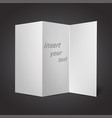 worth paper of a curved vector image vector image