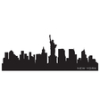new york skyline detailed silhouette vector image