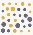 abstract circles pattern gold and gray shades vector image vector image
