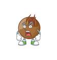 angry sweet medlar fruit cartoon character style
