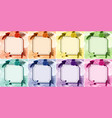 background design with flower frames in eight vector image vector image