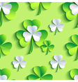 Background seamless pattern 3d Patrick leaf clover vector image vector image