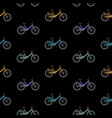 bicycle seamless pattern background vector image