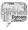 Can Web Service Companies Do Without x Dotcom vector image vector image