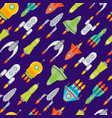 cartoon space ship or rocket background pattern vector image vector image