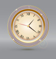 clock with diamonds and roman numerals icon of vector image vector image