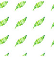 colorful seamless pattern with green leaves vector image