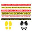 coronavirus quarantine warning type signs vector image