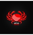 crab seafood menu design background vector image