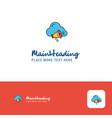 creative cloud music logo design flat color logo vector image