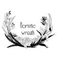 delicate floristic wreath flower design frame vector image vector image