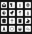 easter items icons set squares vector image vector image