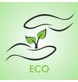 eco logotype vector image