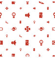 electric icons pattern seamless white background vector image vector image