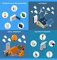 electricity power isometric concept vector image