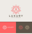 elegant luxury logos vector image