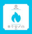 fire flame - halftone logo vector image vector image