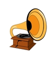 Gramophone Isolated on White vector image vector image