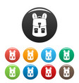 haversack icons set color vector image