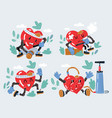 heart character collection vector image vector image