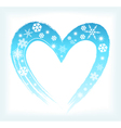 heart shape with snowflakes vector image vector image