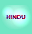 hindu concept colorful word art vector image