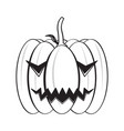 isolated happy halloween pumpkin icon vector image vector image