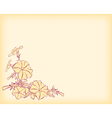 light card with flowers corner vector image vector image