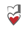 loving books symbol icon on white vector image vector image