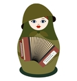 Matryoshka with an accordion vector image vector image